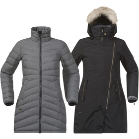 Bergans Sagene 3in1 Coat Dame outer:black/inner:soliddkgrey